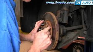 how to install repair replace the brakes on a chrysler pt cruiser