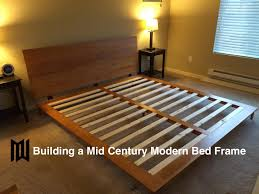 Build Your Own Platform Bed Base by Build A Mid Century Modern Bedframe Youtube