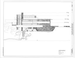 scale drawings sections elevations fallingwater google search