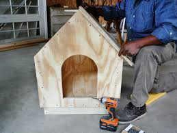 Small House Build How To Build A Simple Gabled Roof Doghouse How Tos Diy