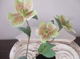 Floral Arrangement Supplies by Helabor Silk Flower Branch Pink Green 14