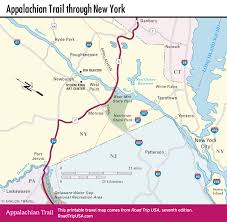 Map Of The New England States by Appalachian Trail Driving Route Road Trip Usa