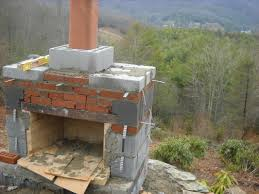 top outdoor cinder block fireplace plans home design awesome