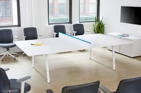 modern conference room table poppin u0027s fresh take on the new conference room table