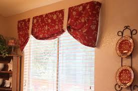 windows red valances for windows designs striped window treatment