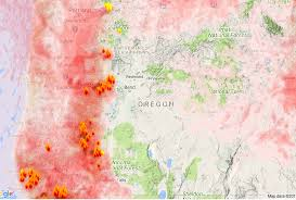 Wild Fires In Oregon Update by Oregon Smoke Information Oregon State Smoke Forecast For Monday