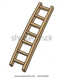 wooden ladder stair cartoon vector illustration stock vector