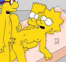 Bart ,Lisa ,Hommer ,Marge Simpson follando