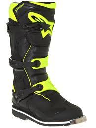motocross boot straps alpinestars black fluorescent yellow tech 1 mx boot alpinestars