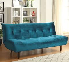 Teal Livingroom by Teal Velvet Sofa Bed With Solid Wood Legs U0026 Tufted Back