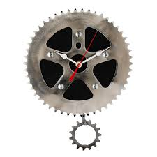 Unique Desk Clocks by Recycled Pendulum Wall Clock Bicycle Clock Gear Chain Graham