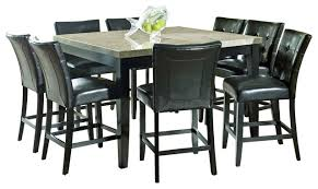 Steve Silver Dining Room Furniture Steve Silver Monarch 9 Piece Marble Top Counter Height Set