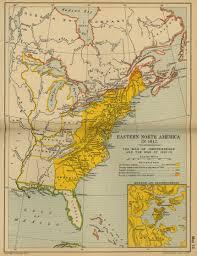 N America Map by Of Eastern North America 1812
