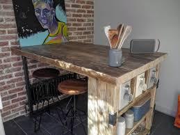 Reclaimed Kitchen Islands 15 Reclaimed Wood Kitchen Island Ideas Rilane We Aspire To Inspire
