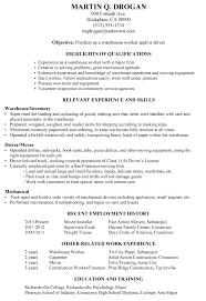Breakupus Inspiring Resume Sample Warehouse Worker Driver With Marvelous Need A Resume Guide With Archaic Adminstrative Break Up