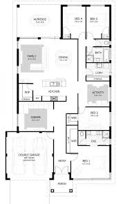 100 3 4 bath floor plans two story house plans series php