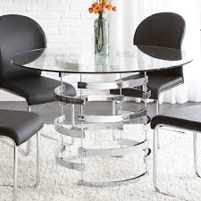 steve silver tayside tempered glass top dining table hayneedle