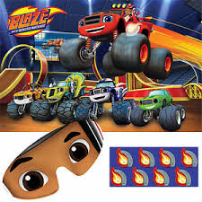 blaze monster machine party game wall poster birthday
