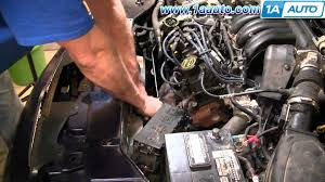 how to install replace radiator engine cooling fan ford 96 07