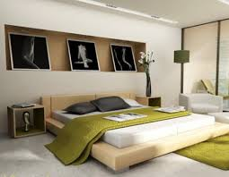 Modern Japanese Bedroom Decorating Design Ideas With Abstract - Japan modern interior design