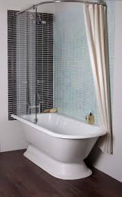 bathroom cozy clawfoot tub shower with glass shower panels and