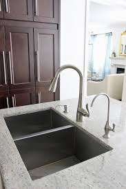 moen u0027s arbor one handle kitchen faucet dark maple kitchen