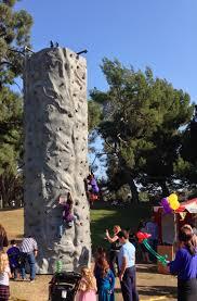 rock climbing wall kids birthday party entertainment