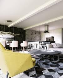 Posh Interiors Geometric Pattern Rug Interior Design Ideas