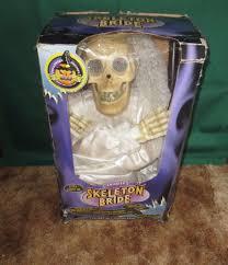 animatronic halloween props image gemmy animated bride skeleton halloween prop decor 3 5