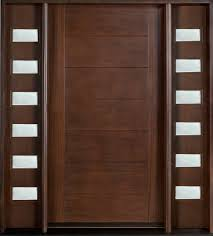 modern front door custom single with 2 sidelites solid wood