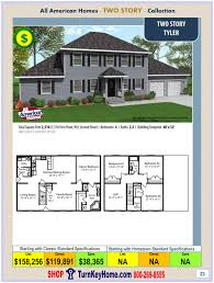 tyler all american two story modular home two story collection