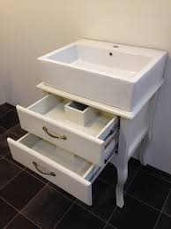 Vanity Units With Drawers For Bathroom by Furniture White Wooden Shabby Bathroom Vanity With Drawers And