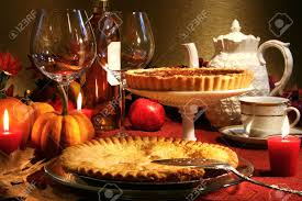 thanksgiving desserts thanksgiving desserts on a festive table stock photo picture and