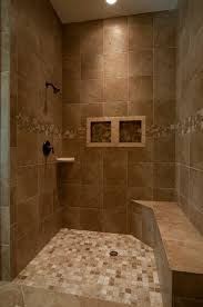 Walk In Shower Ideas For Small Bathrooms Inlaw Quarters Shower Flush Floor And Bench For Handicap Custom