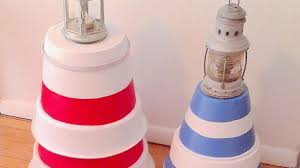 Decorative Lighthouses For In Home Use How To Make A Lighthouse With Recycled Flower Pots Diy Home