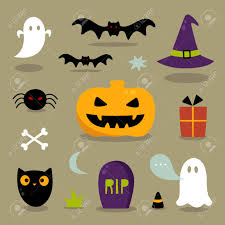 halloween cute clipart cute halloween icons royalty free cliparts vectors and stock