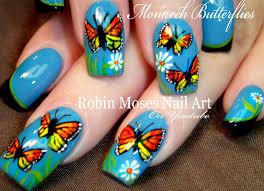 Robin Moses Nail Art by Robin Moses Nail Art Spring Butterfly Nail Art Design Tutorial