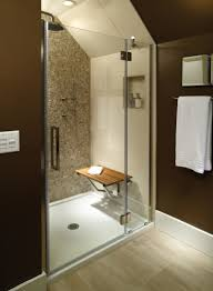 sitting area bathroom mti low profile multiple threshold shower
