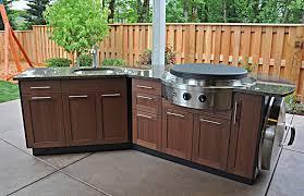 Garden Kitchen Ideas Exterior Awesome U Shape Outdoor Kitchen Barbeque Design Ideas
