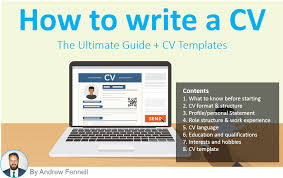 What Is The Profile In A Resume How To Write A Cv The Ultimate Guide Cv Template