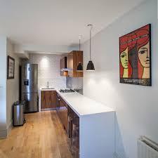 sydney bench bar stool kitchen midcentury with large windows