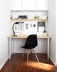 Scandinavian Homes Interiors Small Scandinavian Home Office With White Walls Dark Hardwood