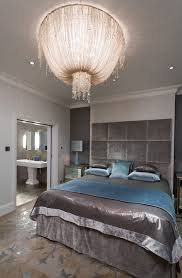 london dramatic headboards bedroom traditional with chandelier