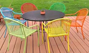 Iron Furniture Adding Modern Elegance To Outdoor Home Decorating - Colorful patio furniture