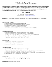 Sample Of A Resume Example Of A Great Resume Berathen Com