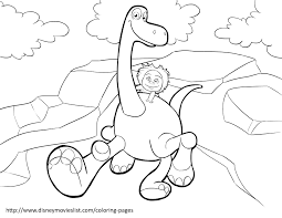 disneys the good dinosaur coloring pages sheet free disney with