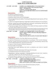 Examples Of Hvac Resumes by Qaqc Mep Hvac Inspector