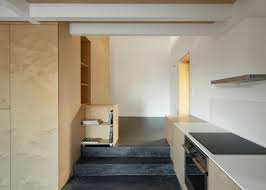 birch plywood was used to this limited budget renovation of the