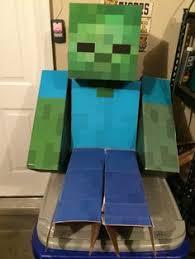 Halloween Minecraft Costume Minecraft Zombie Costume Halloween Costumes