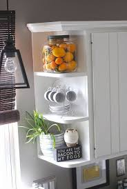 Kitchen Shelving Best 25 Kitchen Shelf Decor Ideas On Pinterest Kitchen Shelves